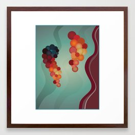 Digital Merlot 2 Framed Art Print