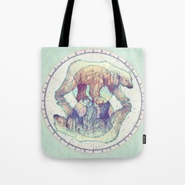Polar circles Tote Bag