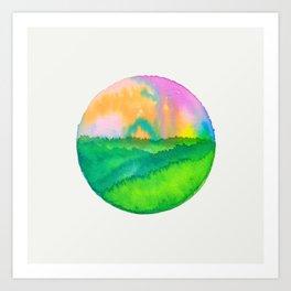 Casual Landscape VIII Art Print