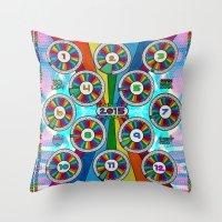calendar 2015 Throw Pillows featuring 2015 Rainbow Calendar . style C by Rel+