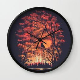 Burning In The Skies Wall Clock
