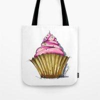 cupcake Tote Bags featuring Cupcake by Svitlana M