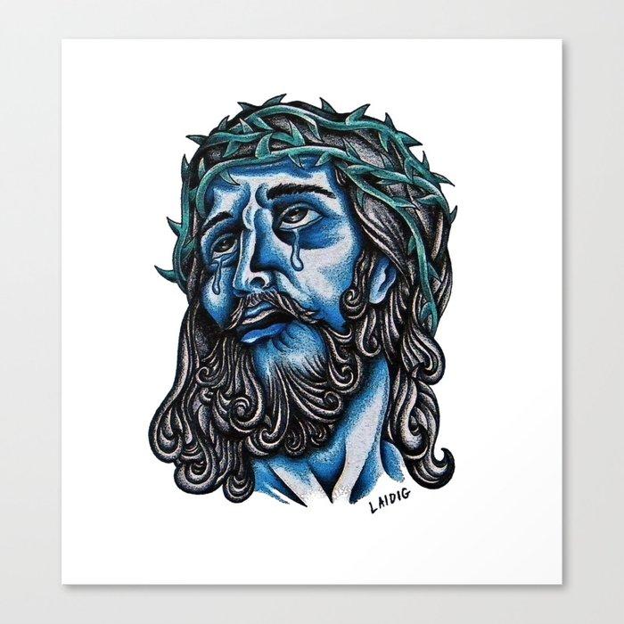The Blue Jesus  Canvas Print