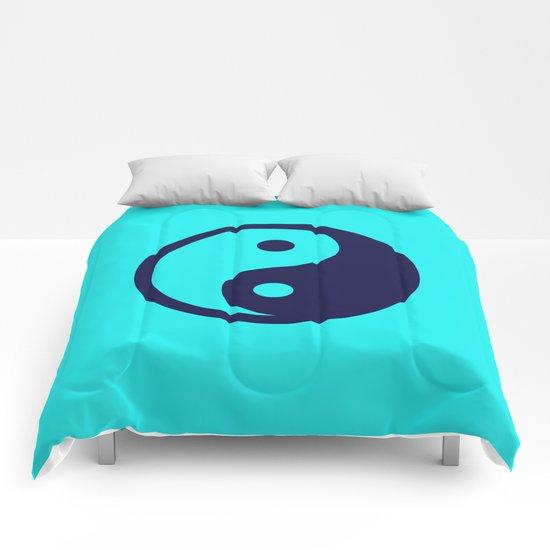 Harmony Yin Yang Navy Turquoise Comforters