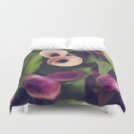 Purple Callas Duvet Cover