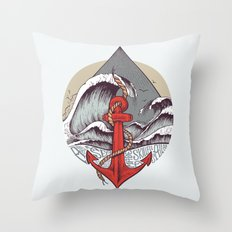 Smooth Sailing Throw Pillow