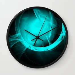 Through the glowing glass portal Wall Clock