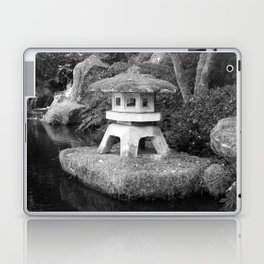 Stone lantern in Japanese Zen Garden Laptop & iPad Skin