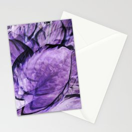 Hosta Leaves Abstract Stationery Cards