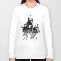 dark souls Long Sleeve T-shirts featuring Prepare to Die ( Dark Souls II ) by Green'n'Black