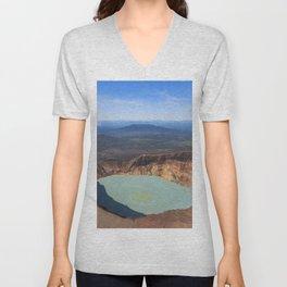 Stratovolcano Maly Semyachik, Kamchatka Unisex V-Neck