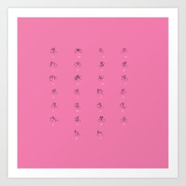 British Sign Language ABC Fingerspelled Art Print