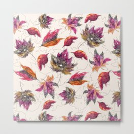 Maple Pattern Metal Print