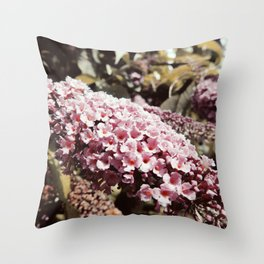 Vintage Buddleia Throw Pillow