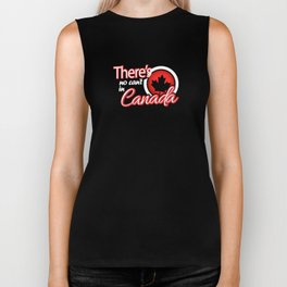 There's No Can't in Canada Biker Tank