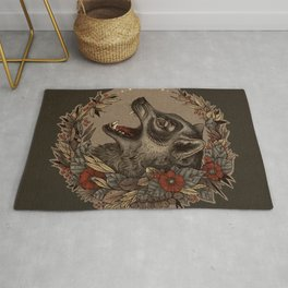 A Little Wolf Moon Rug