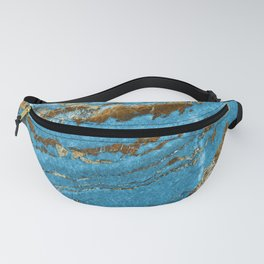 Ocean Blue and Gold Marble Design Fanny Pack