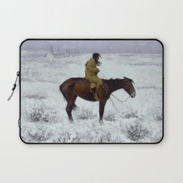 "Frederic Remington Western Art ""The Herd Boy"" Laptop Sleeve"
