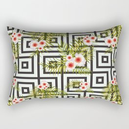 Geometric Jungle #society6 #decor #buyart Rectangular Pillow