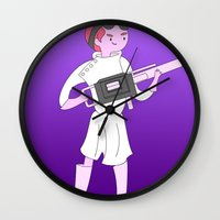 gumball Wall Clocks featuring Dr. Gumball by Jerome Animations