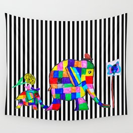 Elephant Festival |Family Walk | #society6 Wall Tapestry