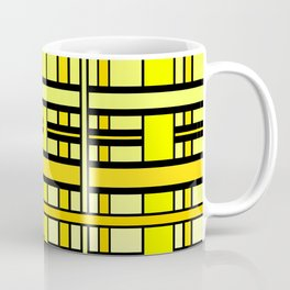 Yellow grid Coffee Mug