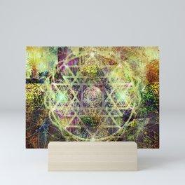 mandala sree yantra Mini Art Print
