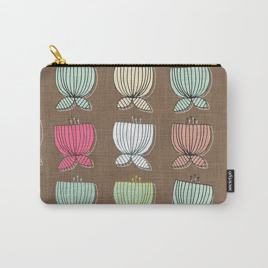 flower cups brown Carry-All Pouch