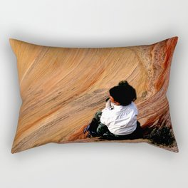 Sitting In Solitude Rectangular Pillow