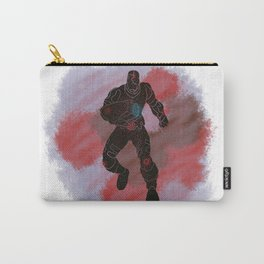 Cyborg Splatter Background Carry-All Pouch