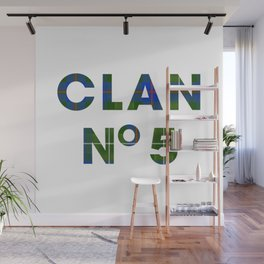 CLAN No 5 – Tartan Blue Wall Mural