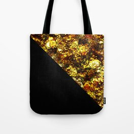 Golden Triangle - Abstract, geometric, Black And Gold Foil Artwork Tote Bag