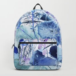 Blue leaves Backpack