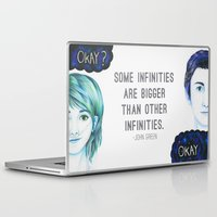 the fault Laptop & iPad Skins featuring The Fault In Our Stars by laserghost