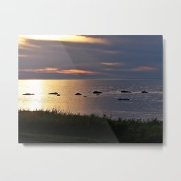 Golden Sparkling Waters Metal Print