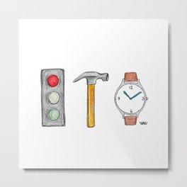 Stop! Hammer Time! Metal Print