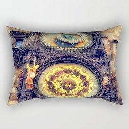 Prague Clock Orloj watercolor Rectangular Pillow
