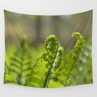 plant Wall Tapestries featuring Green Plant by Pure Nature Photos
