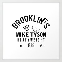 mike tyson Art Prints featuring Iron Mike Tyson by Maioriz Home