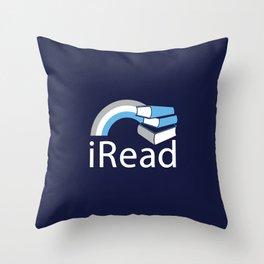i Read   Book Nerd Slogan Throw Pillow