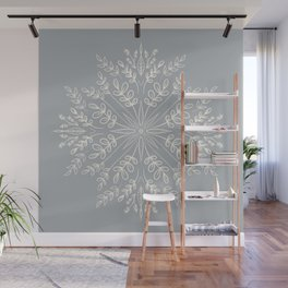 Botanical Mandala - Gray Wall Mural