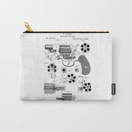 Revolver Patent Drawing Carry-All Pouch