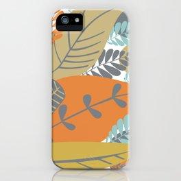 Bright Tropical Leaf Retro Mid Century Modern iPhone Case