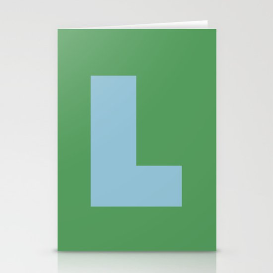 Light Blue L Stationery Cards