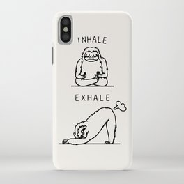 Inhale Exhale Sloth iPhone Case
