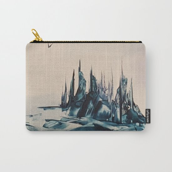 Green Alienscape Carry-All Pouch