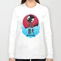 kaiju Long Sleeve T-shirts featuring Kaiju Sake by zerobriant