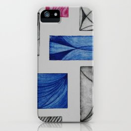 Grabado 7 abstracto iPhone Case