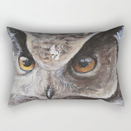 "The Owl - ""Watch-me!"" - Animal - by LiliFlore Rectangular Pillow"