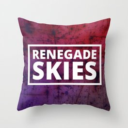 Renegade Skies logo BG 2 Throw Pillow